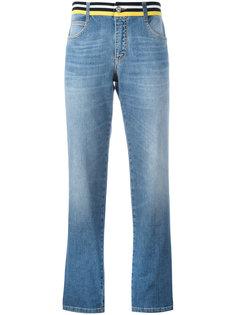 прямые джинсы с полосатым поясом Ermanno Scervino