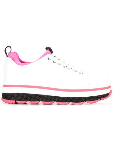 кроссовки на шнуровке Prada Linea Rossa