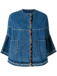 джинсовая куртка с укороченными рукавами Bazar Deluxe