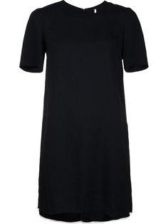 креповое платье с контрастной окантовкой Adam Lippes