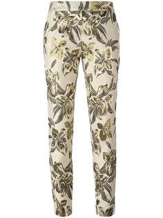 укороченные брюки с цветочным рисунком Christian Pellizzari