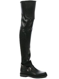 ботфорты с пряжками Fendi