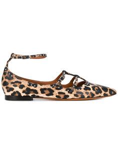 балетки с леопардовым принтом Givenchy