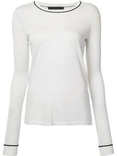 трикотажная футболка с контрастной горловиной Jenni Kayne