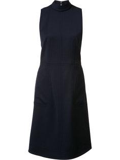 расклешенное платье с высокой горловиной Gabriela Hearst