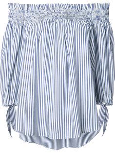 полосатая блузка с открытыми плечами Caroline Constas