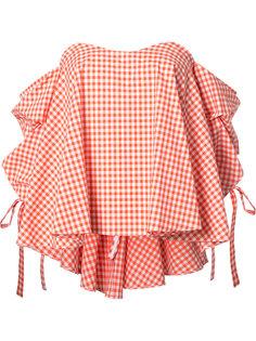блузка в клетку Caroline Constas