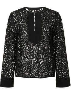 кружевная блузка с контрастной панелью Jenni Kayne