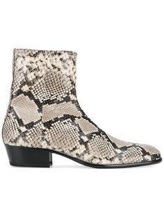 ботинки с эффектом змеиной кожи Maison Margiela