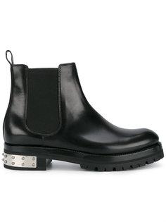 высокие ботинки Mod с отделкой заклепками Alexander McQueen