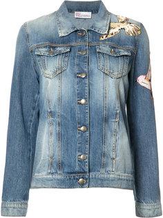 джинсовая куртка с нашивками-птицами Red Valentino