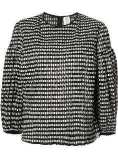 клетчатая блузка с рукавами-баллон Rosie Assoulin