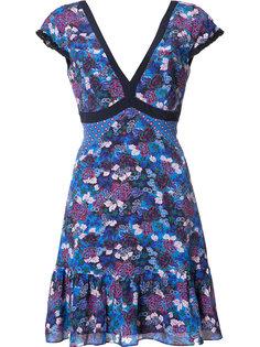 платье с цветочным принтом Saloni