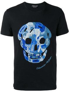 футболка с вышивкой черепа Alexander McQueen