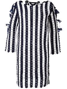 трикотажное платье дизайна колор-блок Carolina Herrera
