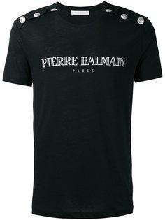 футболка с заклепками Pierre Balmain