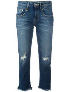 укороченные джинсы с затемненными краями R13