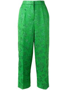 укороченные брюки с цветочным узором Rochas