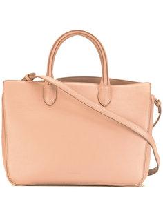 сумка-тоут с тисненым логотипом Jil Sander