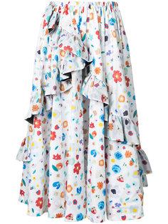 юбка с цветочным узором G.V.G.V.