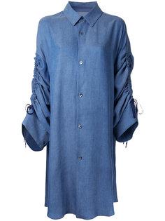 джинсовая рубашка с рукавами на завязках G.V.G.V.