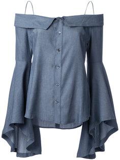 джинсовая блузка с открытыми плечами G.V.G.V.