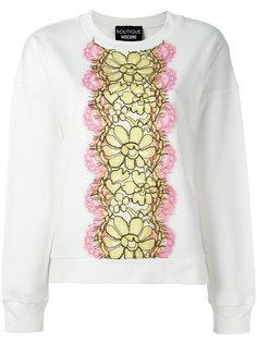 толстовка с цветочным украшением Boutique Moschino