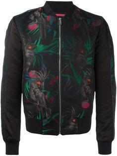 куртка-бомбер с жаккардовым принтом попугаев Paul Smith Jeans