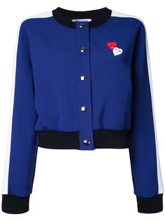 куртка-бомбер с нашивками сердец Vivetta
