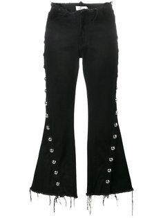 джинсы с заклепками и необработанными краями Marquesalmeida