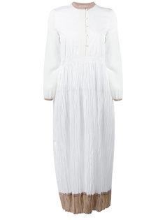 платье с контрастной окантовкой  Agnona