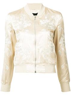 куртка-бомбер с цветочной вышивкой 3X1