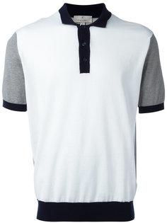 футболка-поло с контрастными деталями Canali