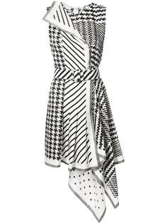 асимметричное платье в ломаную клетку Monse