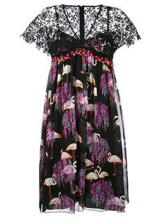 платье с V-образным вырезом и принтом Giamba