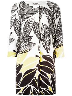 пальто с растительным принтом Herno