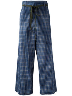брюки с высокой талией в клетку Hache