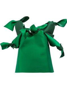 блузка с декоративными узлами Maison Rabih Kayrouz