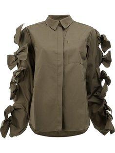 рубашка с декоративными бантами на рукавах Maison Rabih Kayrouz