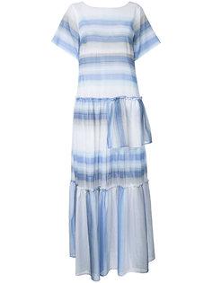длинное платье в полоску Lemlem