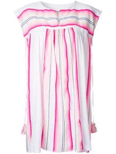 короткое платье в полоску Lemlem
