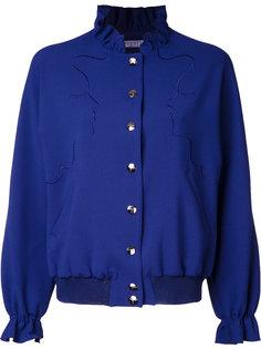 куртка-бомбер с вышивкой лиц Vivetta