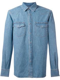 джинсовая рубашка в стиле вестерн Aspesi