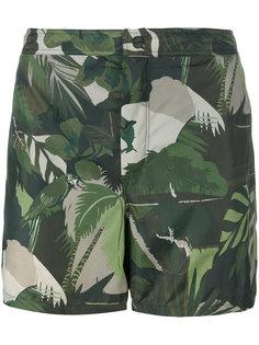 шорты для плавания с тропическим принтом Valentino