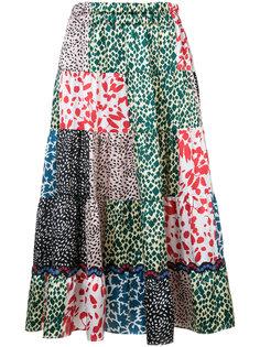 юбка А-образного силуэта с цветочным узором Sonia Rykiel