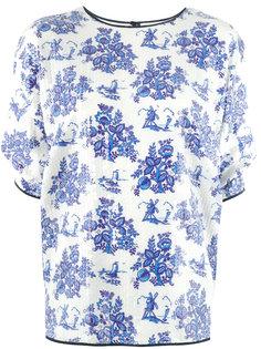 футболка с цветочным принтом Victoria Victoria Beckham