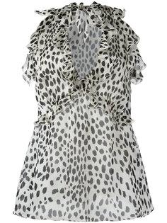 блузка с гепардовым узором Roberto Cavalli