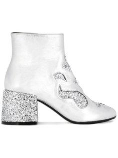 ботинки по щиколотку с блестками Mm6 Maison Margiela