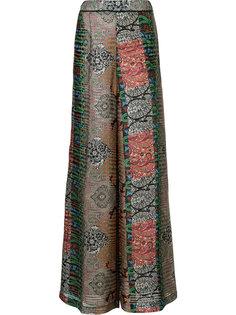 брюки-палаццо с орнаментом арабеска Oscar de la Renta