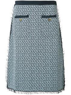 твидовая юбка-карандаш Thom Browne